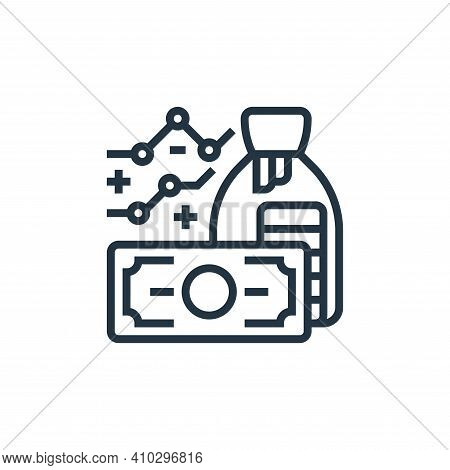 economic icon isolated on white background from business risks collection. economic icon thin line o