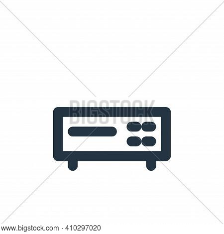 dvd icon isolated on white background from electronics collection. dvd icon thin line outline linear