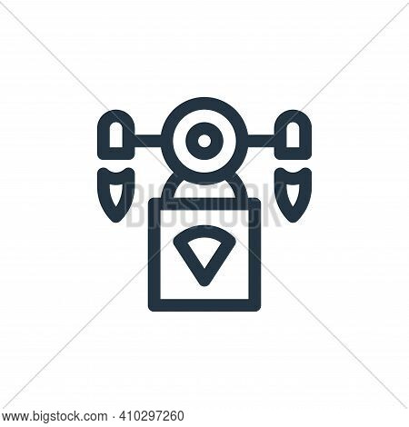drone delivery icon isolated on white background from technology of the future collection. drone del