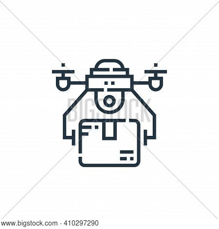 drone delivery icon isolated on white background from delivery collection. drone delivery icon thin