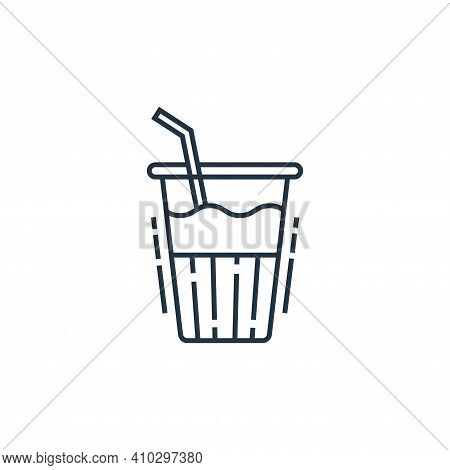 drink icon isolated on white background from environment and eco collection. drink icon thin line ou