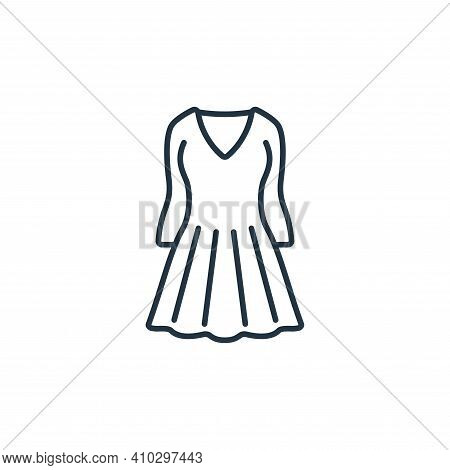 dress icon isolated on white background from clothes and outfit collection. dress icon thin line out