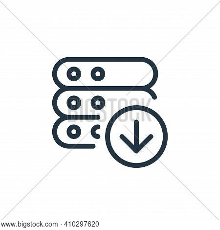 download icon isolated on white background from work office server collection. download icon thin li