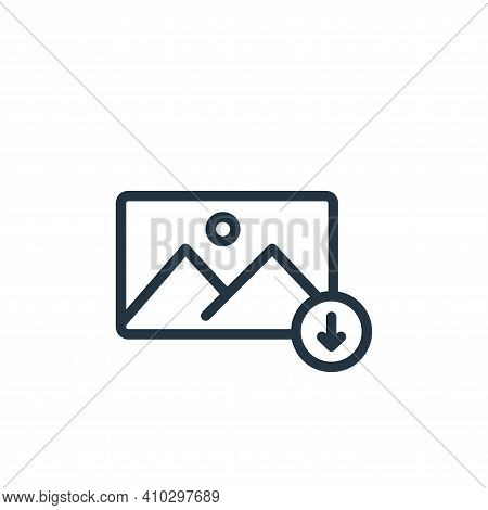 download icon isolated on white background from photography collection. download icon thin line outl