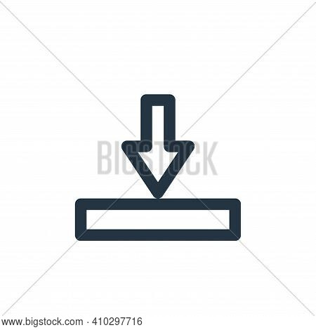 download icon isolated on white background from marketing business collection. download icon thin li