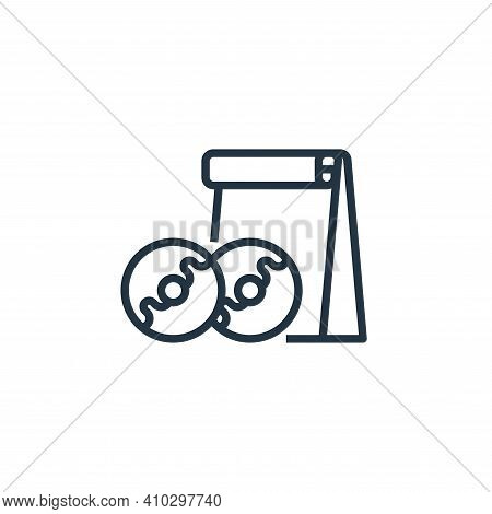 doughnut icon isolated on white background from food delivery collection. doughnut icon thin line ou