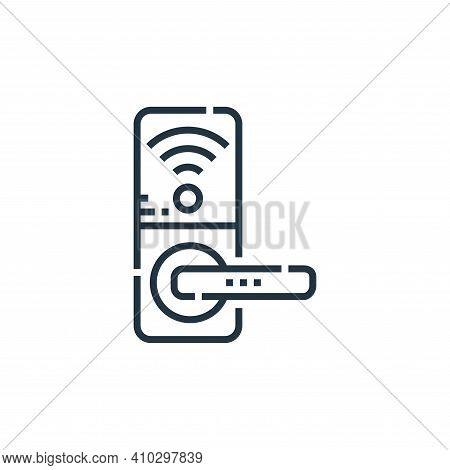 door knob icon isolated on white background from smarthome collection. door knob icon thin line outl