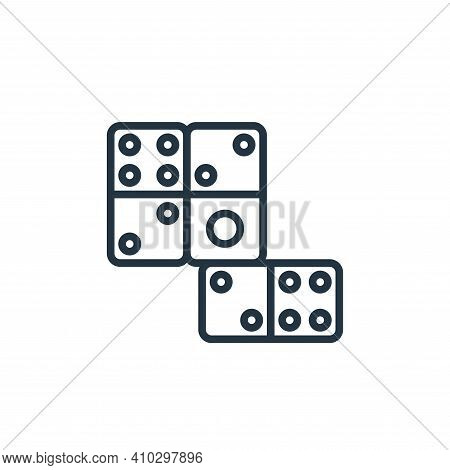 domino icon isolated on white background from stay at home collection. domino icon thin line outline