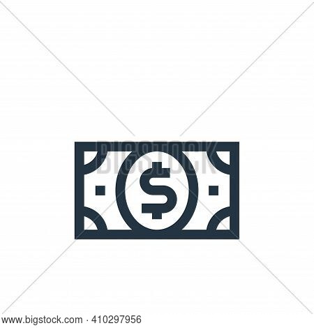 dollar icon isolated on white background from united states of america collection. dollar icon thin