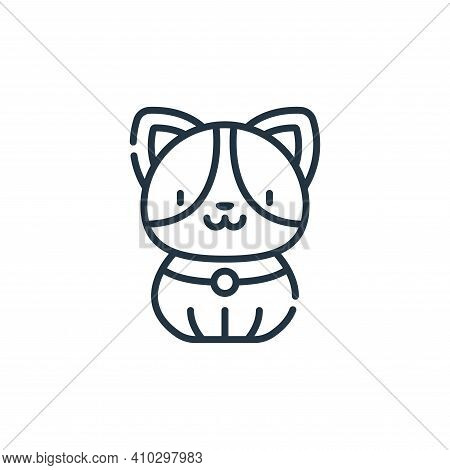 dog icon isolated on white background from animal welfare collection. dog icon thin line outline lin