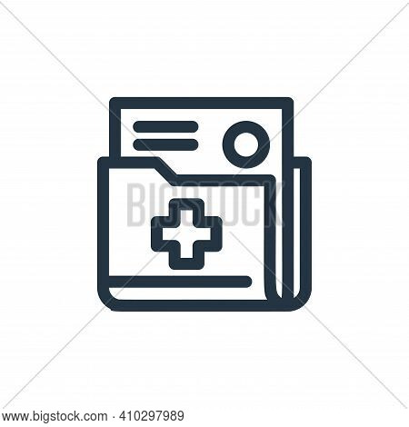 document icon isolated on white background from medical tools collection. document icon thin line ou