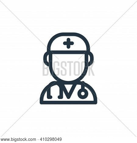 doctor icon isolated on white background from medical tools collection. doctor icon thin line outlin