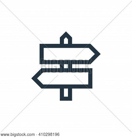 direction icon isolated on white background from web essentials collection. direction icon thin line