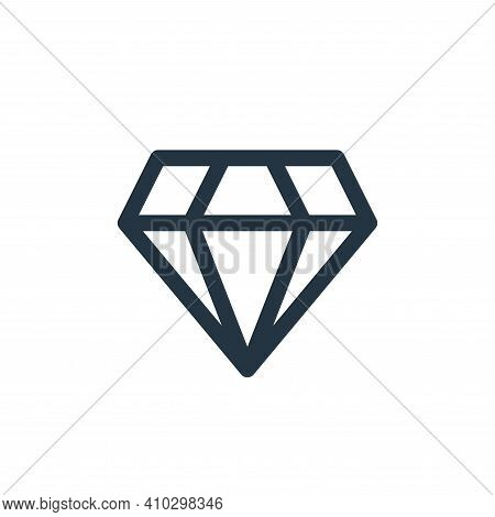 diamond icon isolated on white background from user interface collection. diamond icon thin line out