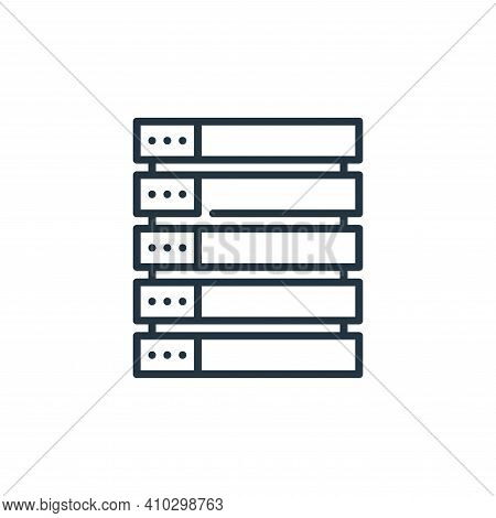 database icon isolated on white background from management collection. database icon thin line outli
