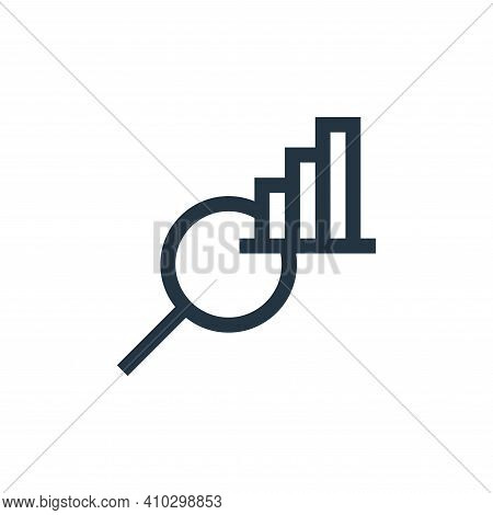 data analysis icon isolated on white background from job resume collection. data analysis icon thin