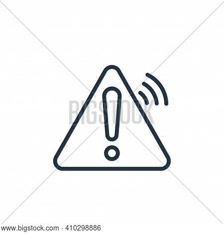 danger icon isolated on white background from internet of things collection. danger icon thin line o