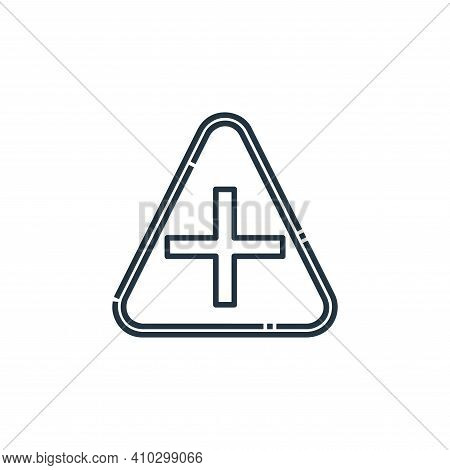 crossroads icon isolated on white background from signaling collection. crossroads icon thin line ou