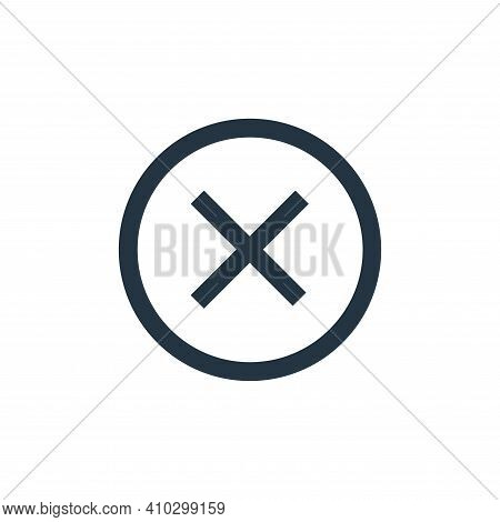 cross icon isolated on white background from email collection. cross icon thin line outline linear c