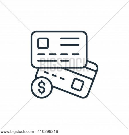 credit cards icon isolated on white background from retirement collection. credit cards icon thin li