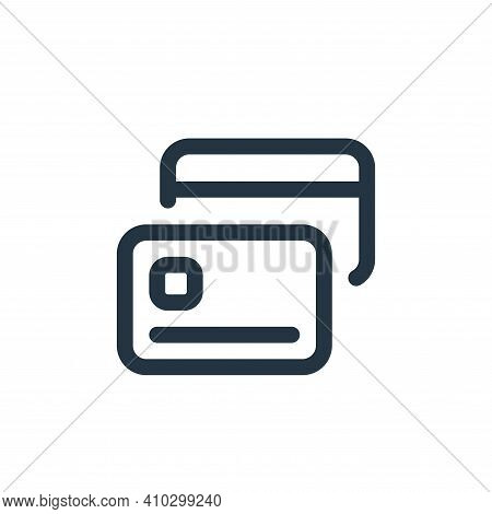 credit card icon isolated on white background from web apps seo collection. credit card icon thin li
