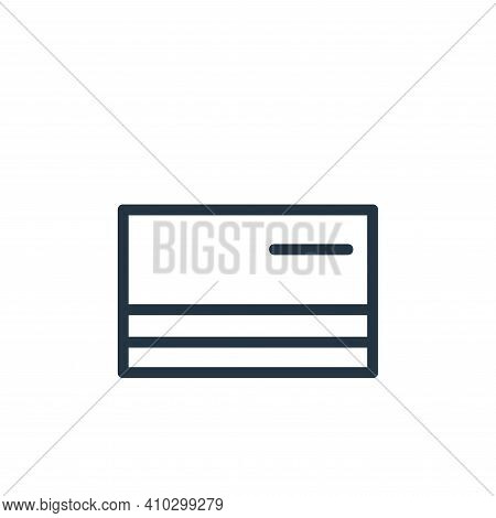 credit card icon isolated on white background from banking and finance flat icons collection. credit