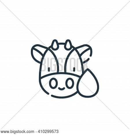 cow icon isolated on white background from animal welfare collection. cow icon thin line outline lin