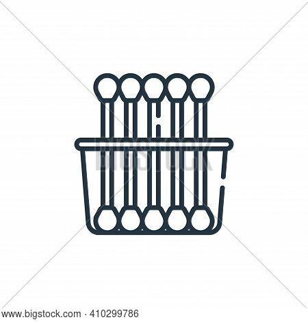 cotton swabs icon isolated on white background from bathroom collection. cotton swabs icon thin line