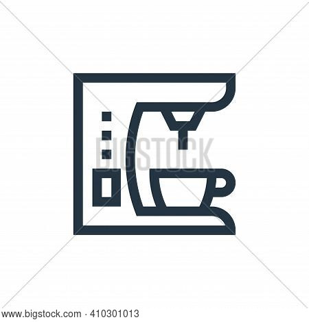 coffee maker icon isolated on white background from electronics collection. coffee maker icon thin l