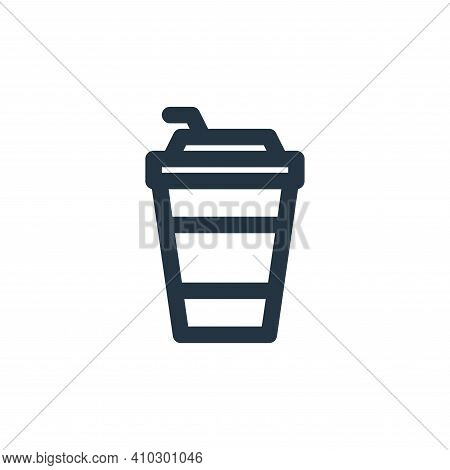 coffee cup icon isolated on white background from holiday collection. coffee cup icon thin line outl