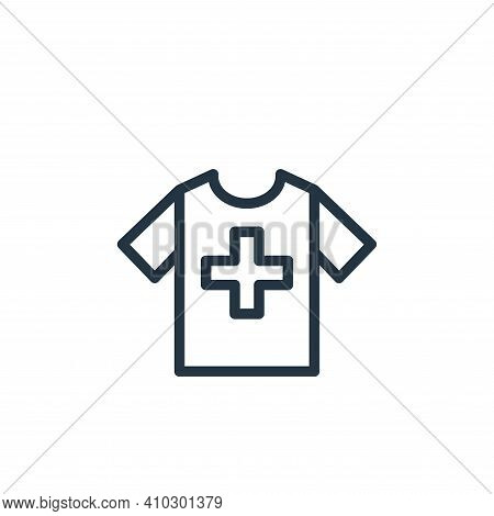 clothes icon isolated on white background from health and protection collection. clothes icon thin l