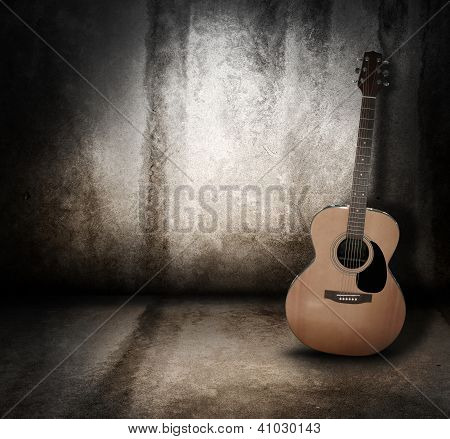 Acoustic Music Guitar Grunge Background