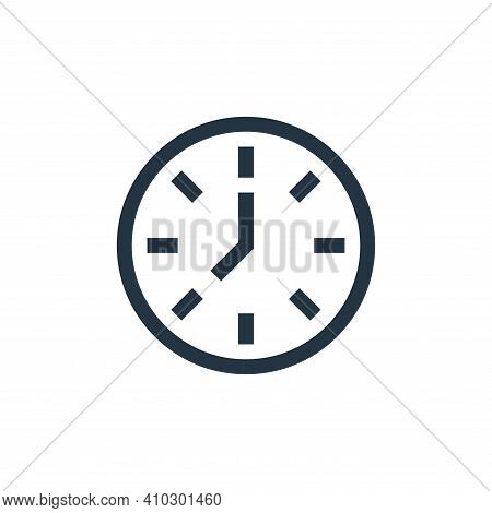 clock icon isolated on white background from management collection. clock icon thin line outline lin