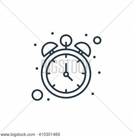clock icon isolated on white background from islam and ramadan collection. clock icon thin line outl
