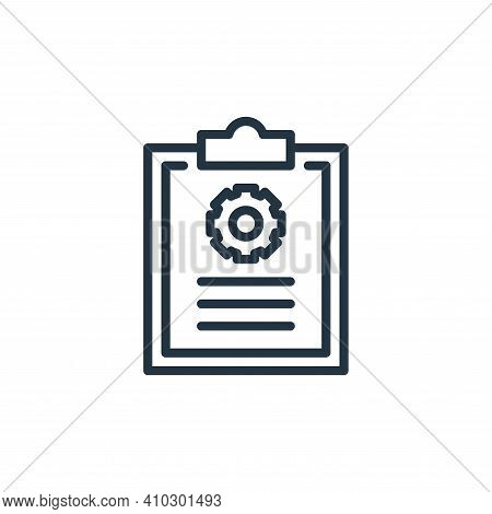 clipboard icon isolated on white background from engineering collection. clipboard icon thin line ou