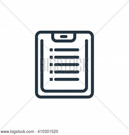 clipboard icon isolated on white background from business collection. clipboard icon thin line outli