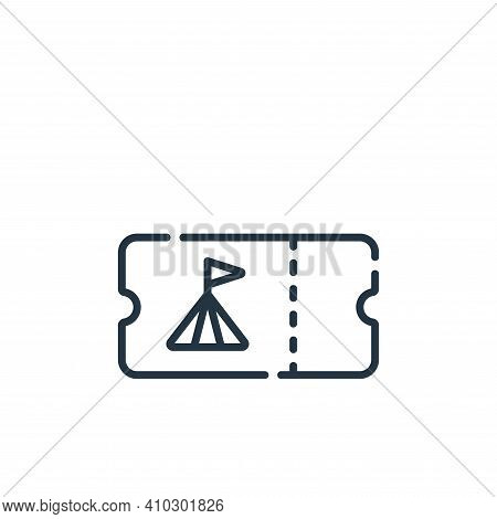 circus icon isolated on white background from circus collection. circus icon thin line outline linea