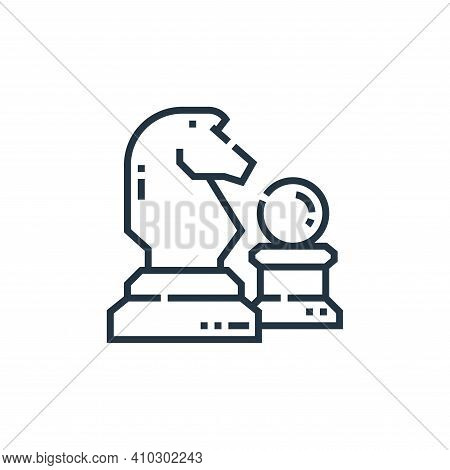 chess icon isolated on white background from marketing collection. chess icon thin line outline line