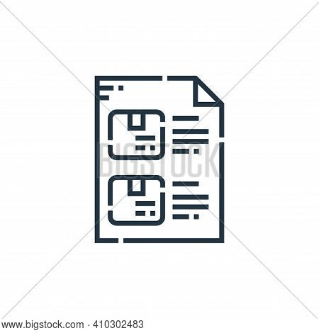 checklist icon isolated on white background from delivery collection. checklist icon thin line outli