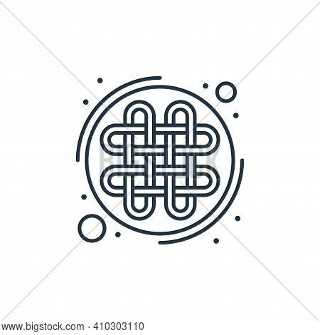 celtic icon isolated on white background from saint patrick collection. celtic icon thin line outlin