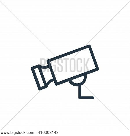 cctv camera icon isolated on white background from banking and finance flat icons collection. cctv c