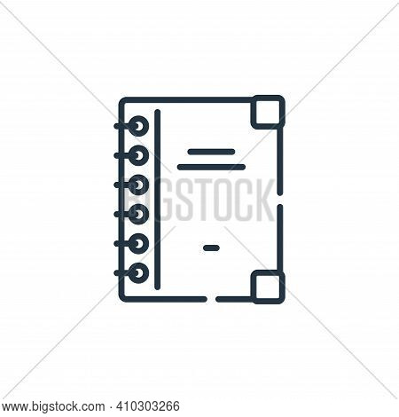 catalogue icon isolated on white background from sewing collection. catalogue icon thin line outline