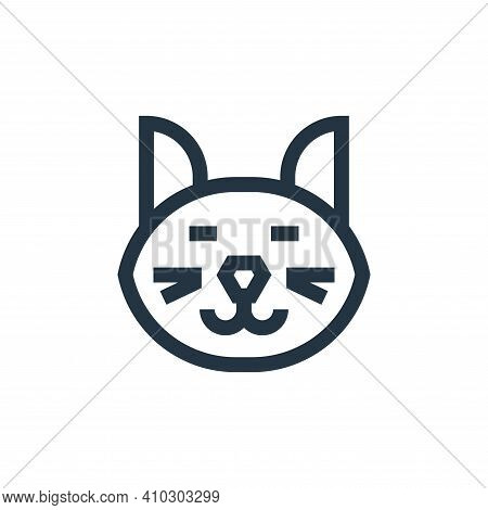 cat icon isolated on white background from mental health collection. cat icon thin line outline line