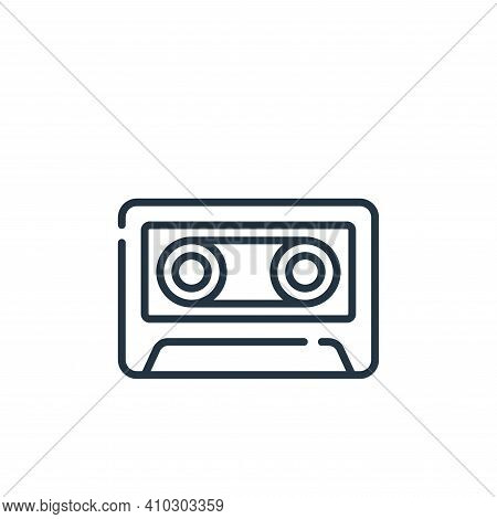 cassette icon isolated on white background from music collection. cassette icon thin line outline li