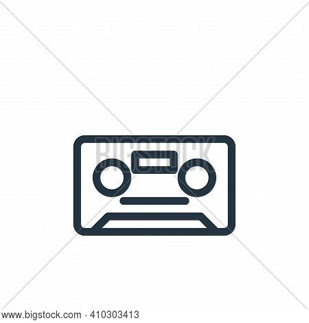 cassette icon isolated on white background from technology collection. cassette icon thin line outli