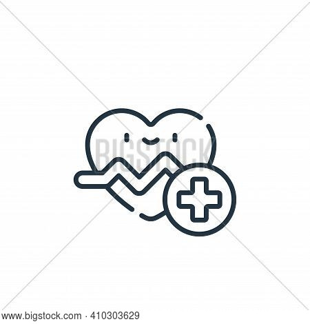 cardiology icon isolated on white background from medical services collection. cardiology icon thin