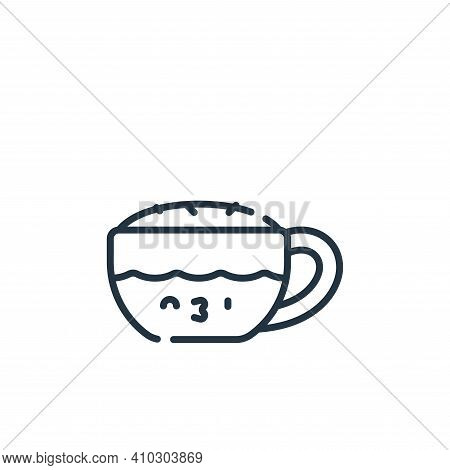 cappuccino icon isolated on white background from italy collection. cappuccino icon thin line outlin