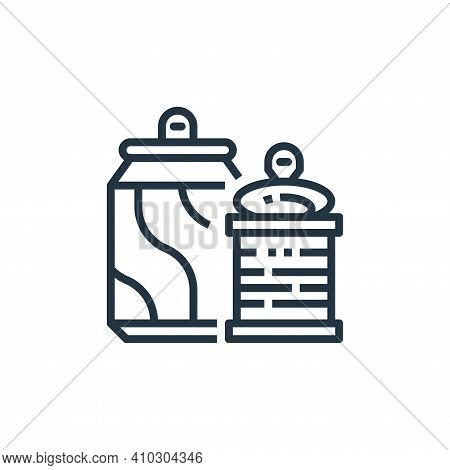 can icon isolated on white background from recycling collection. can icon thin line outline linear c