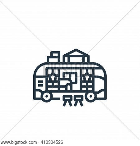 camper van icon isolated on white background from camping collection. camper van icon thin line outl