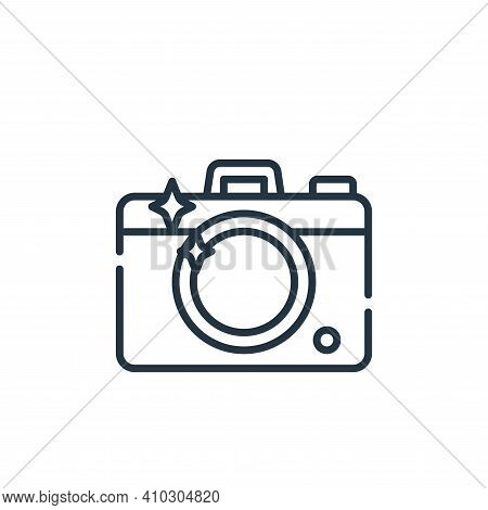 camera icon isolated on white background from fame collection. camera icon thin line outline linear